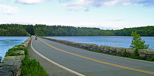 West Branch Reservoir - The Carver Bridge, where NY 301 crosses the reservoir