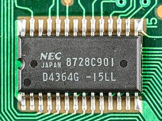 Nonvolatile BIOS memory - NEC D4364G  8192 x 8 Bit Static CMOS RAM