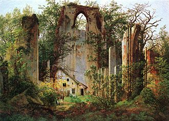 Eldena Abbey - Ruine Eldena by Caspar David Friedrich (1825)