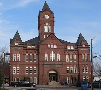 National Register of Historic Places listings in Cass County, Nebraska - Image: Cass County, Nebraska courthouse from W 1