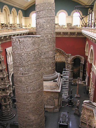 Cast Courts (Victoria and Albert Museum) - Cast Court from upper walkway.