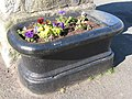 Cast iron water trough at the Pant on The Green - geograph.org.uk - 1246471.jpg