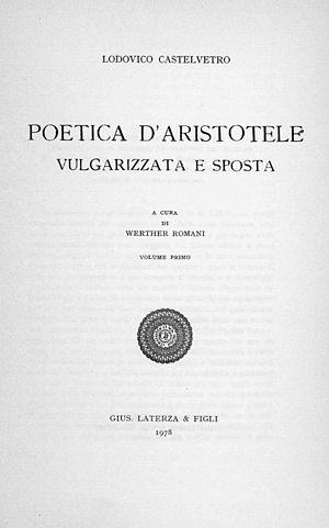 Lodovico Castelvetro - Poetica d'Aristotele