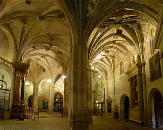 Cuenca, Spain - The Cathedral apse-aisle