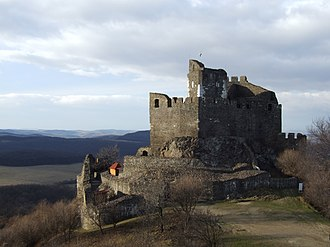 Hollókő - Image: Castle of Holloko with Panorama