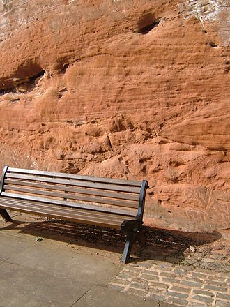 Castlefield - Sandstone cliff in Castlefield