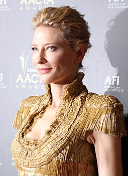 Blanchett at the Inaugural AACTA Awards in 2012 Cate Blanchett (6795459727) (cropped).jpg