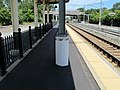 Catenary pole base, Kingston Railroad Station.JPG