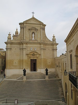 Lorenzo Gafà - St. Paul's Cathedral in Mdina and the Cathedral of the Assumption in Victoria, Gozo, which were designed by Gafà in the late 17th and early 18th centuries