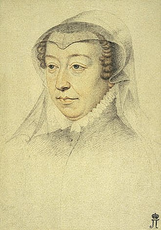 Counts of Dreux - Image: Catherine de medici widow clouet