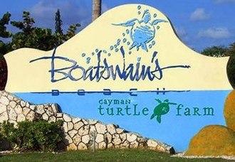 Cayman Turtle Farm - Image: Cayman Turtle Farm sign