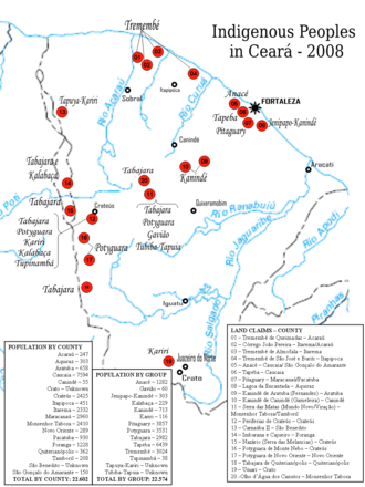 Map showing indigenous groups in Ceara. Ceara.png