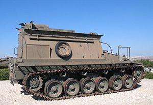 Beach armoured recovery vehicle - Centurion BARV at the Yad la-Shiryon Museum, Latrun (November 2005)