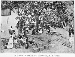 A chair market at Badagry in 1910