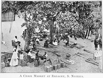 Badagry - A chair market at Badagry in 1910.