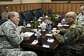 Chairman of the Joint Chiefs of Staff Gen. Martin E. Dempsey, left, and Gen. Sher Mohammad Karimi, Afghan Chief of Army Staff, meet at the International Security Assistance Forces headquarters in Bagram, Afghan 121215-D-VO565-026.jpg