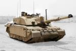 Challenger 2 Main Battle Tank patrolling outside Basra, Iraq MOD 45148325- Grey Background.png