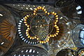 Chandellier and the dome hierarchy - Hagia Sophia (8396108556).jpg