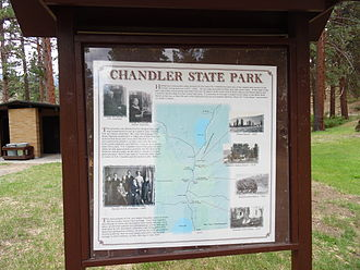 Chandler State Wayside - Interpretive sign with park history