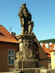 Statue of Nicholas of Tolentino, Charles Bridge