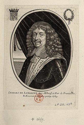 Catherine Henriette de Bourbon - Charles II de Lorraine duc d'Elbeuf