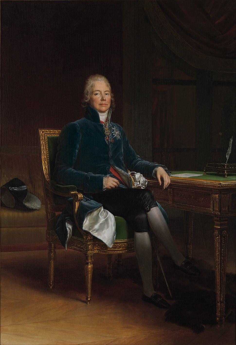Charles Maurice de Talleyrand-Périgord by François Gérard, 1808