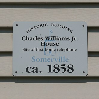 Charles Williams Jr. House - The identifying sign on the face of the Charles Williams Jr. House