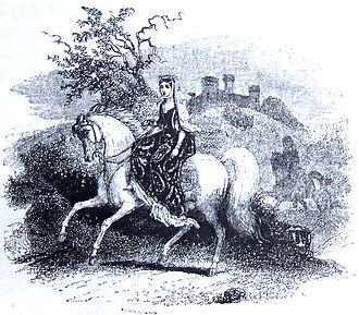 Rhiannon - Rhiannon riding in Arberth. From The Mabinogion, translated by Lady Charlotte Guest, 1877