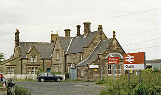 Chathill railway station - Station approach in 1988