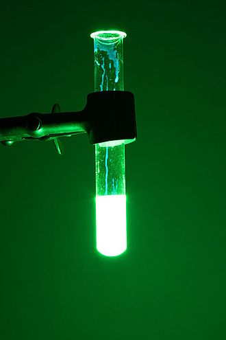 Hydrogen peroxide - Chemiluminescence of cyalume, as found in a glow stick