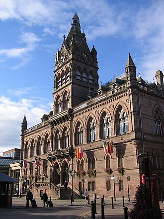 The Seven Lamps of Architecture - Polychromy in Ruskinian Gothic: Chester Town Hall, 1863–1869 William Henry Lynn, architect