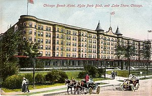 Chicago Beach Hotel - Chicago Beach Hotel Postcard (1910)