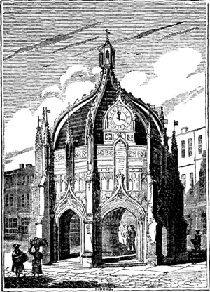 Chichester Cross - Chichester Cross, in a circa 1831 illustration.