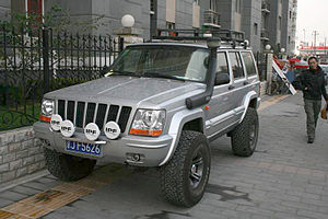 Beijing Benz - Beijing BJ2500 in 2004, a Jeep XJ with a facelifted front end