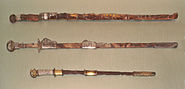 Chinese swords Sui Dynasty top and Japanese Kofun period sword bottom about 600
