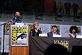 Chris Hardwick, Peter Capaldi, Steven Moffat & Pearl Mackie (36272115165).jpg