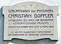 Christian Doppler birthplace memorial plaque (cropped).jpg