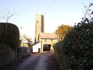 Bickington - Church and lychgate, Bickington.