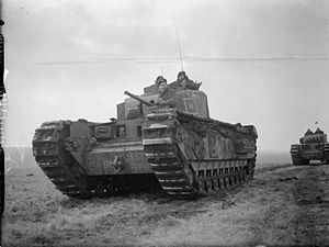 10th Royal Tank Regiment - Image: Churchill tank Salisbury Plain Jan 1942 IWM H 16965
