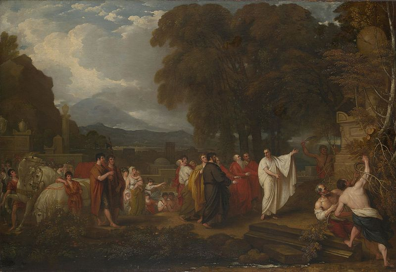 Cicero Discovering the Tomb of Archimedes by Benjamin West.jpeg