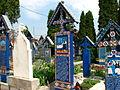 Cimitirul Vesel din Săpânța, județul Maramureș - detalii 02.JPG