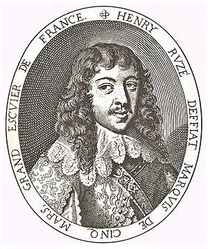 Jean Daret - Jean Daret, Henri Coiffier de Ruzé, Marquis de Cinq-Mars, ca. 1642
