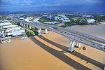 CityCats safely moored at Port of Brisbane during the flood. (5728429398).jpg