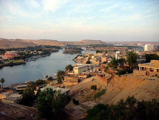 City of Aswan seen from the air