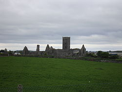 Clare Abbey, from which the parish takes its name