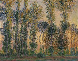 Poplars (Monet series) - Image: Claude Monet Poplars at Giverny, Sunrise