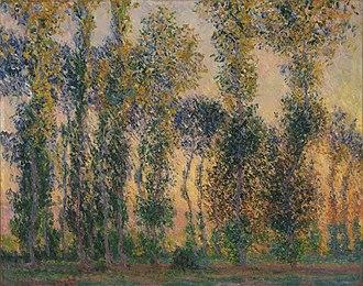 Poplars (Monet series) - Image: Claude Monet Poplars at Giverny, Sunrise