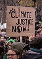 Climate Justice Now!, placard, 2018 (cropped).jpg