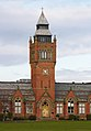 Clock tower of Merchant Taylors' School Crosby.jpg