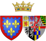 Description de l'image Coat of arms of Marie Thérèse of Savoy as Countess of Artois.png.